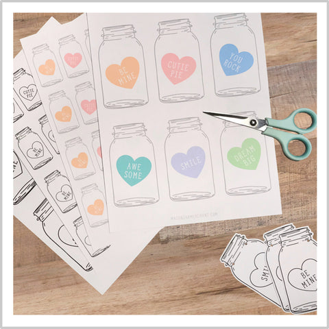 free printable candy heart valentines