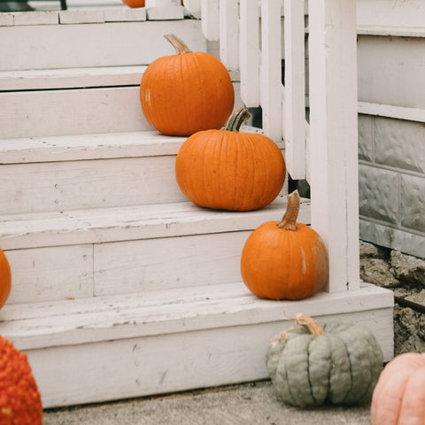 Decorate for Halloween with local pumpkins