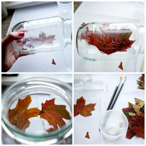 Mason Jar Fall Crafts Enchanted Autumn Leaf Jar