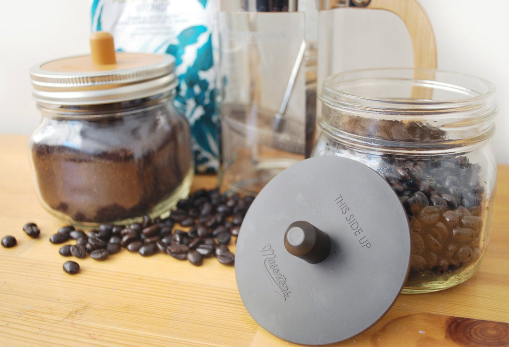 'Coffee Caps' - CO2 Releasing Mason Jar Coffee Storage Lid (2 Pack)