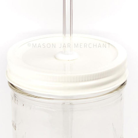 'Winter White' Painted Straw Lid