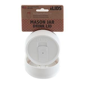White reusable drink lid for a mason jar against a white background