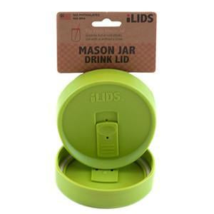 Lime green reusable drink lid for a mason jar