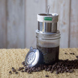 'Café Dose' - Stainless Steel Mason Jar Pour-Over Kit