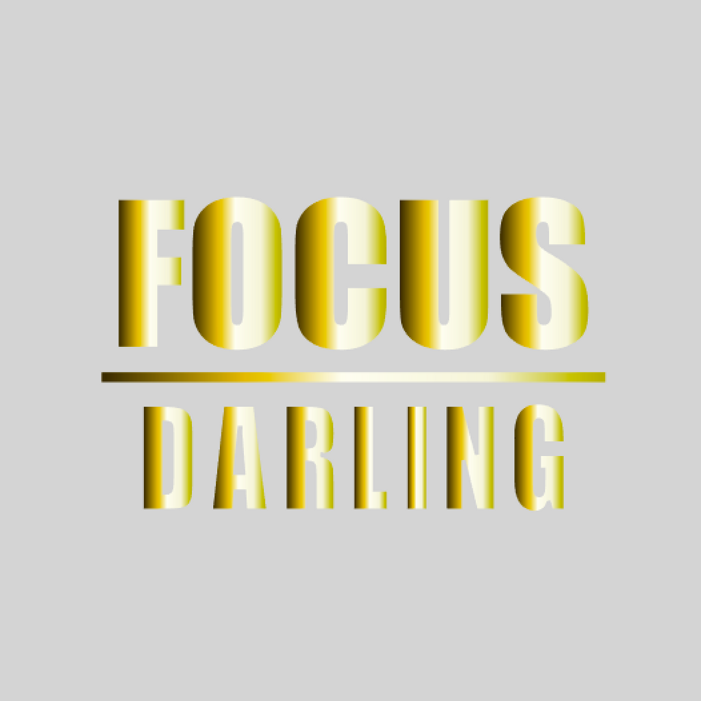 'Focus Darling' Mason Jar Tumbler