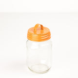 Orange Enamel Lid With Handle
