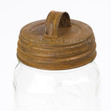 Rusty Lid With Handle