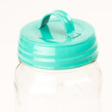 Aqua Enamel Lid With Handle