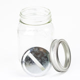 2 Piece Coin Slot Lid (Silver Metallic)