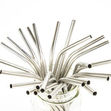 Stainless Steel Reusable Straws - Bent