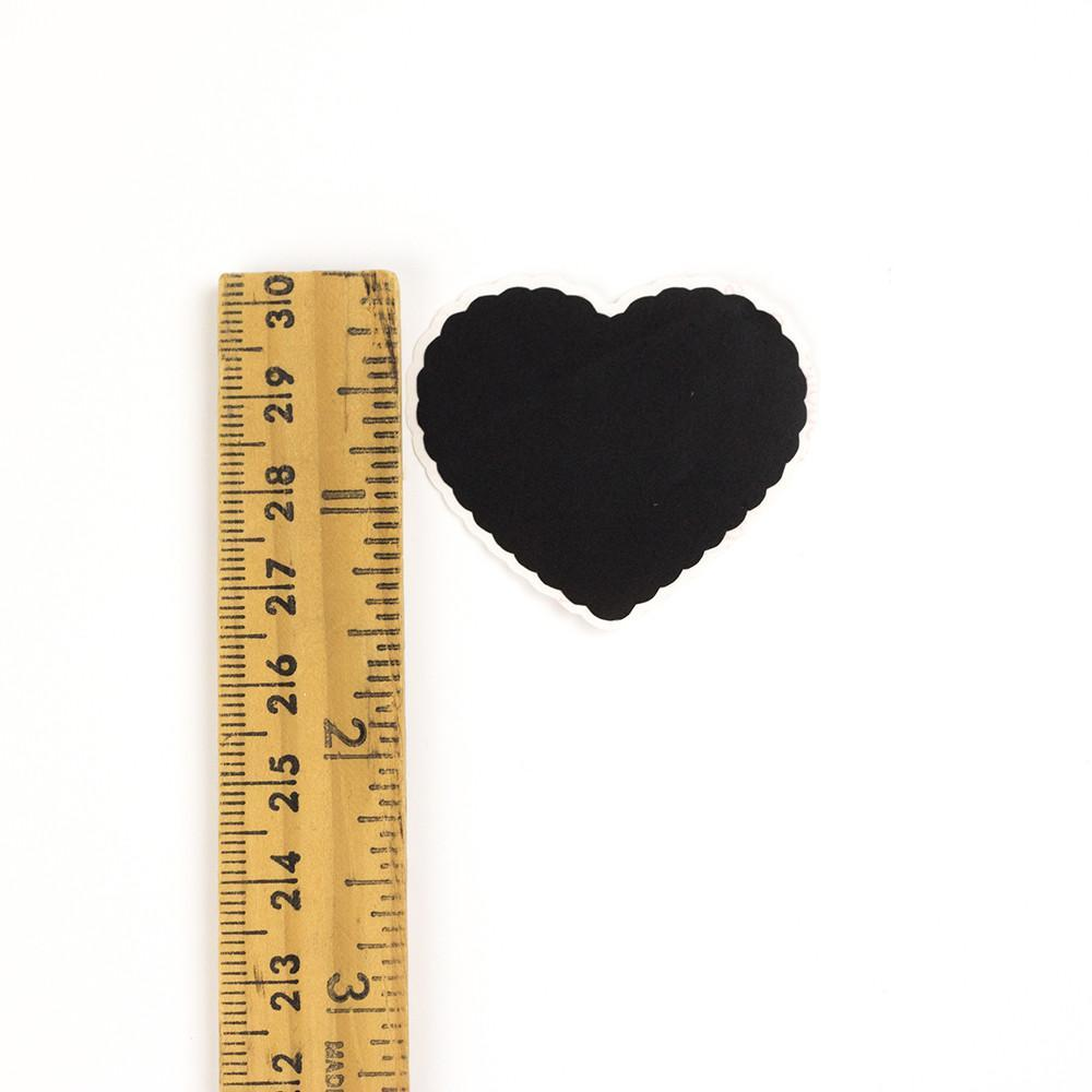 Scalloped Heart Chalkboard Labels - 1.5 inches