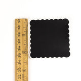 Scalloped Square Chalkboard Labels - 2.25 inches