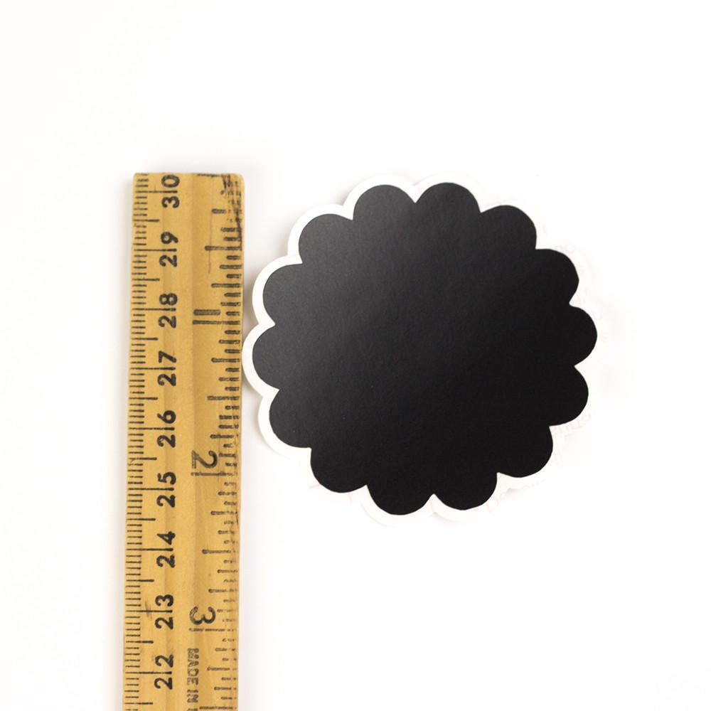 Chalkboard Labels 2.25 inch Scalloped Circle