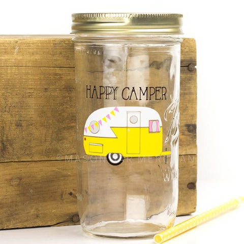 'Every Now And Then I Fall Apart' (Taco) Mason Jar Tumbler
