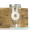 'I Really Donut Care!' Drinking Jar