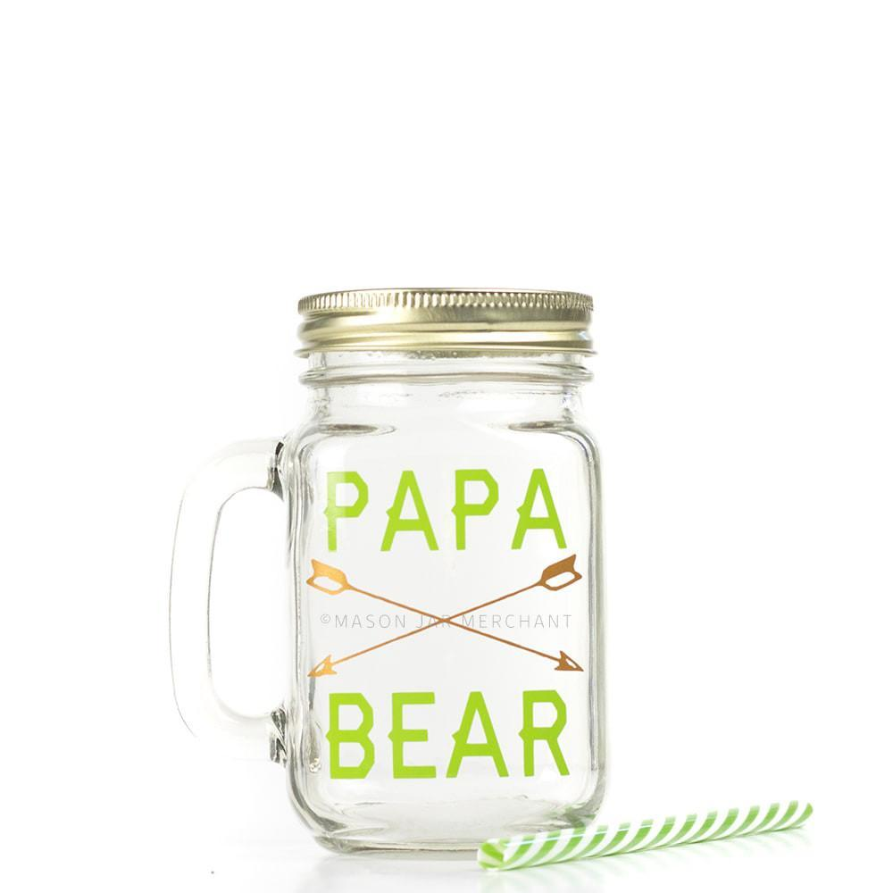 'Papa Bear' Drinking Jar {Summer Camp Edition}