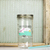 'Happy Camper' Drinking Jar - Seafoam