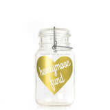 'Honeymoon Fund' (Heart) Savings Jar
