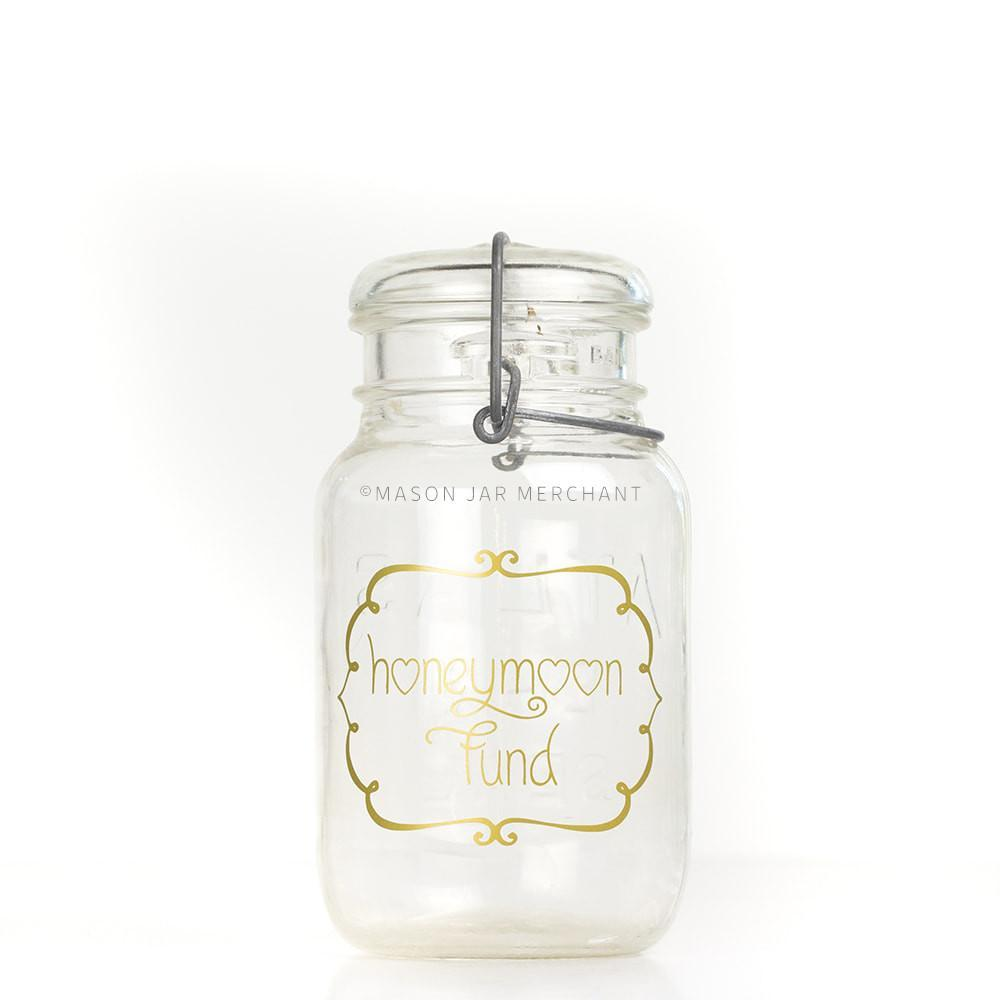 'Honeymoon Fund' (Swirly Frame) Savings Jar