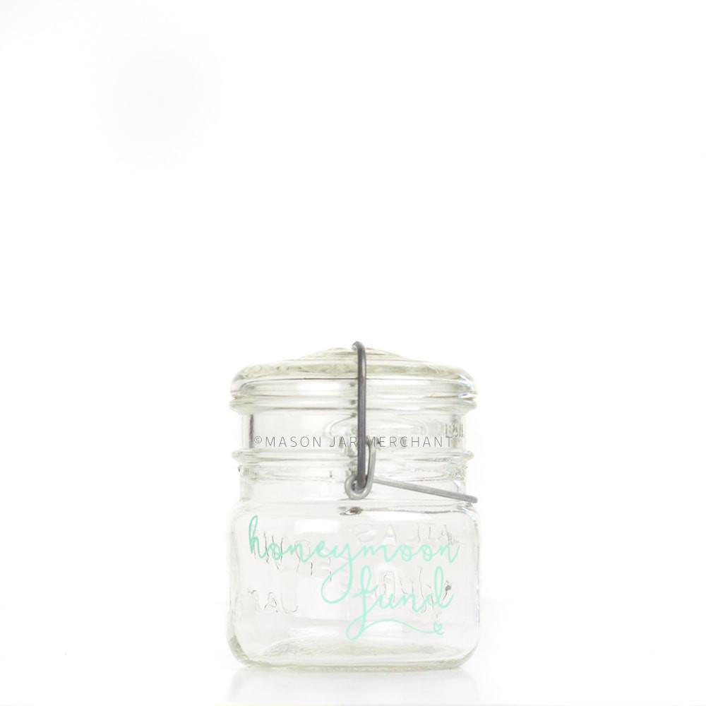 'Honeymoon Fund' (Script) Savings Jar