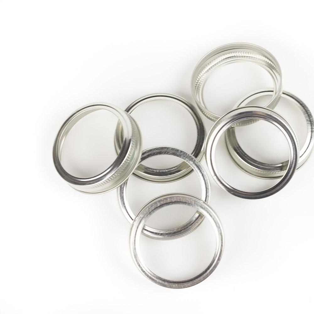 {Bulk Available} Silver Regular Mouth Canning Lid