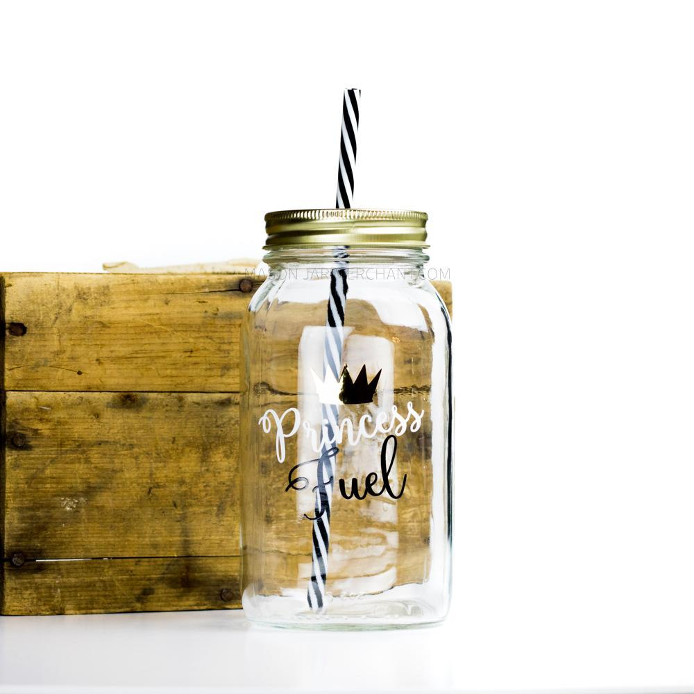 'Princess Fuel' Drinking Jar {Raven/Cotton}