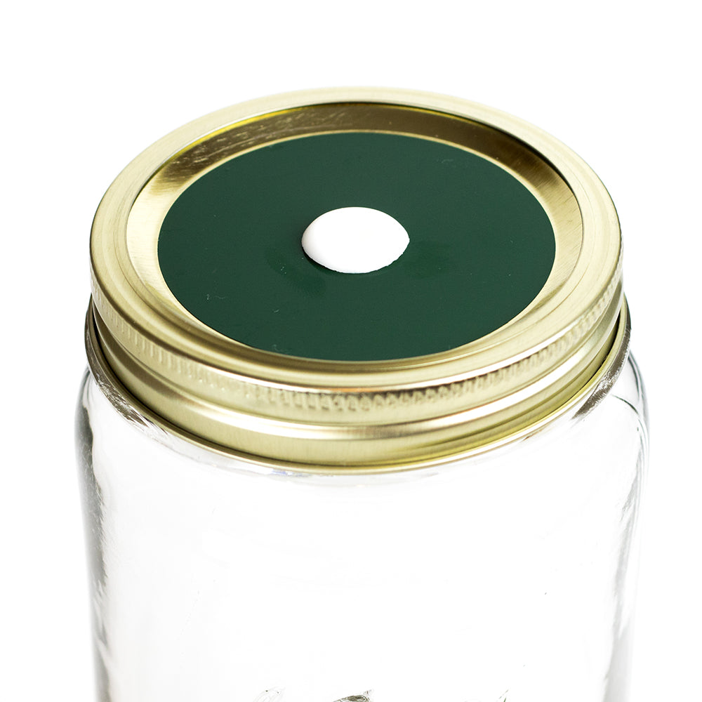 Color Top Mason Jar Straw Lid - Pine