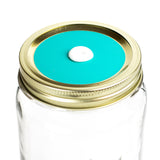 Color Top Mason Jar Straw Lid - Ocean