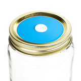Color Top Mason Jar Straw Lid - Carolina Blue