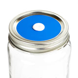 Color Top Mason Jar Straw Lid - Deep Sky Blue