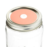 Color Top Mason Jar Straw Lid - Coral