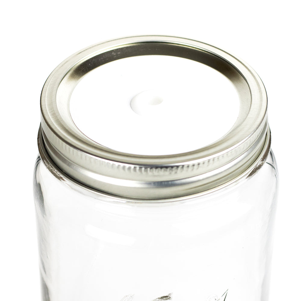 Color Top Mason Jar Straw Lid - Cotton