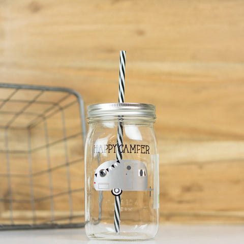 'Classy But I Cuss A Little' Drinking Jar {Gold/Raven}