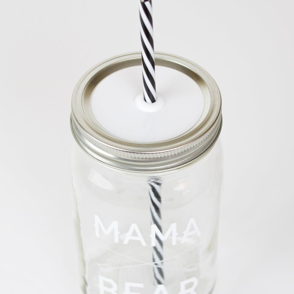 'Mama Bear' Drinking Jar {Cotton}