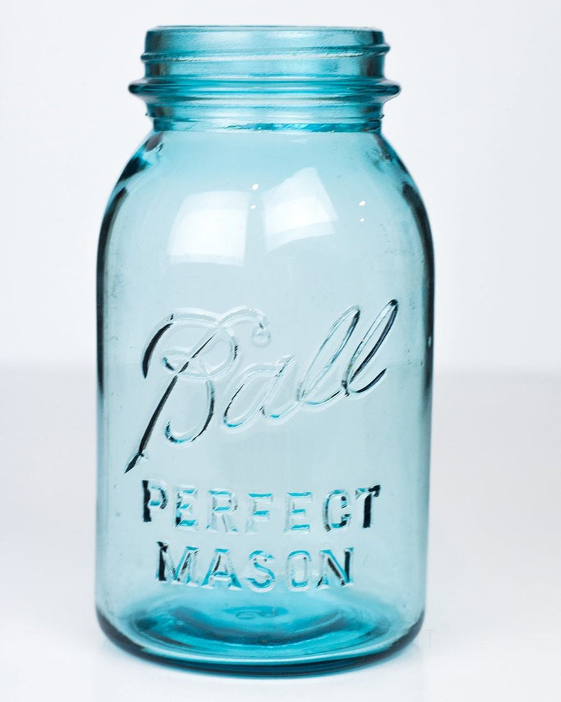 Vintage Ball Blue (1923-1933) Perfect Mason Regular Mouth Quart