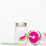 reusable glass mason jar tumblers with straw lid and reusable straw