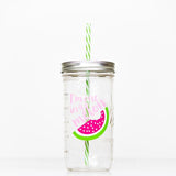 i'm one in a melon pink and green reusable water bottle 24 oz