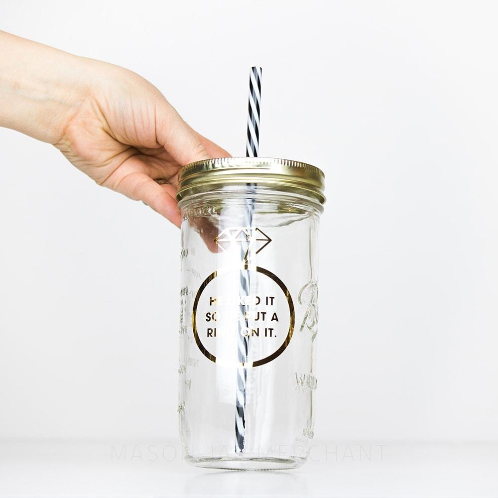 'He Liked It So He Put A Ring On It' Mason Jar Tumbler