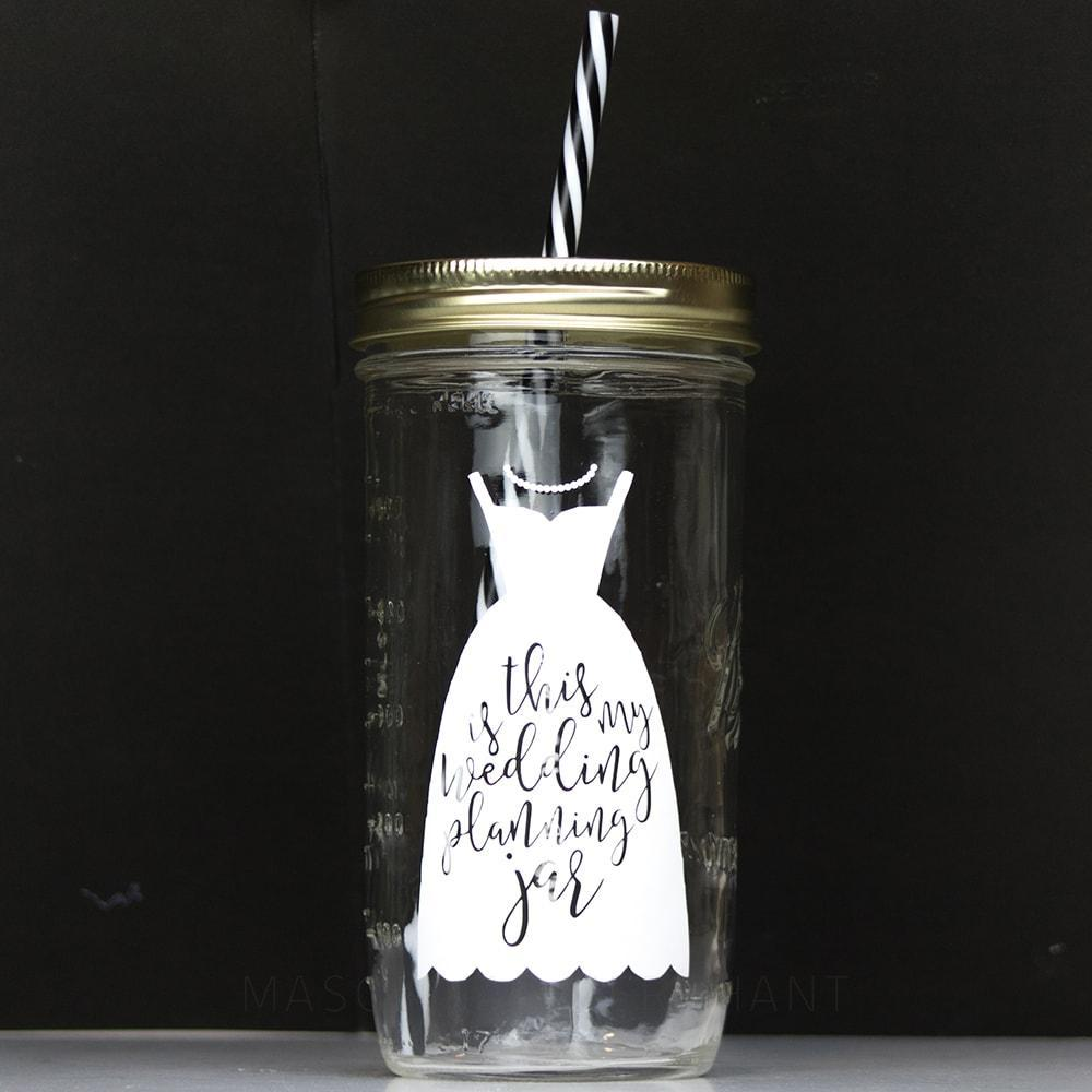 'this is my wedding planning jar' Mason Jar Tumbler