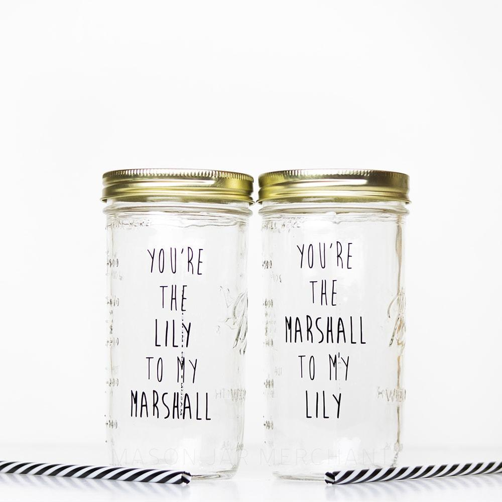 Marshall and Lily reusable water bottles