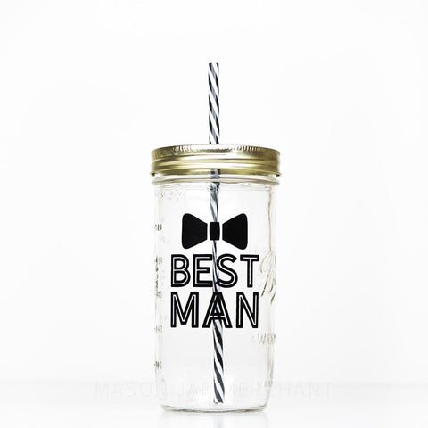'Messy Bun & Getting Stuff Done'  Drinking Jar - Black