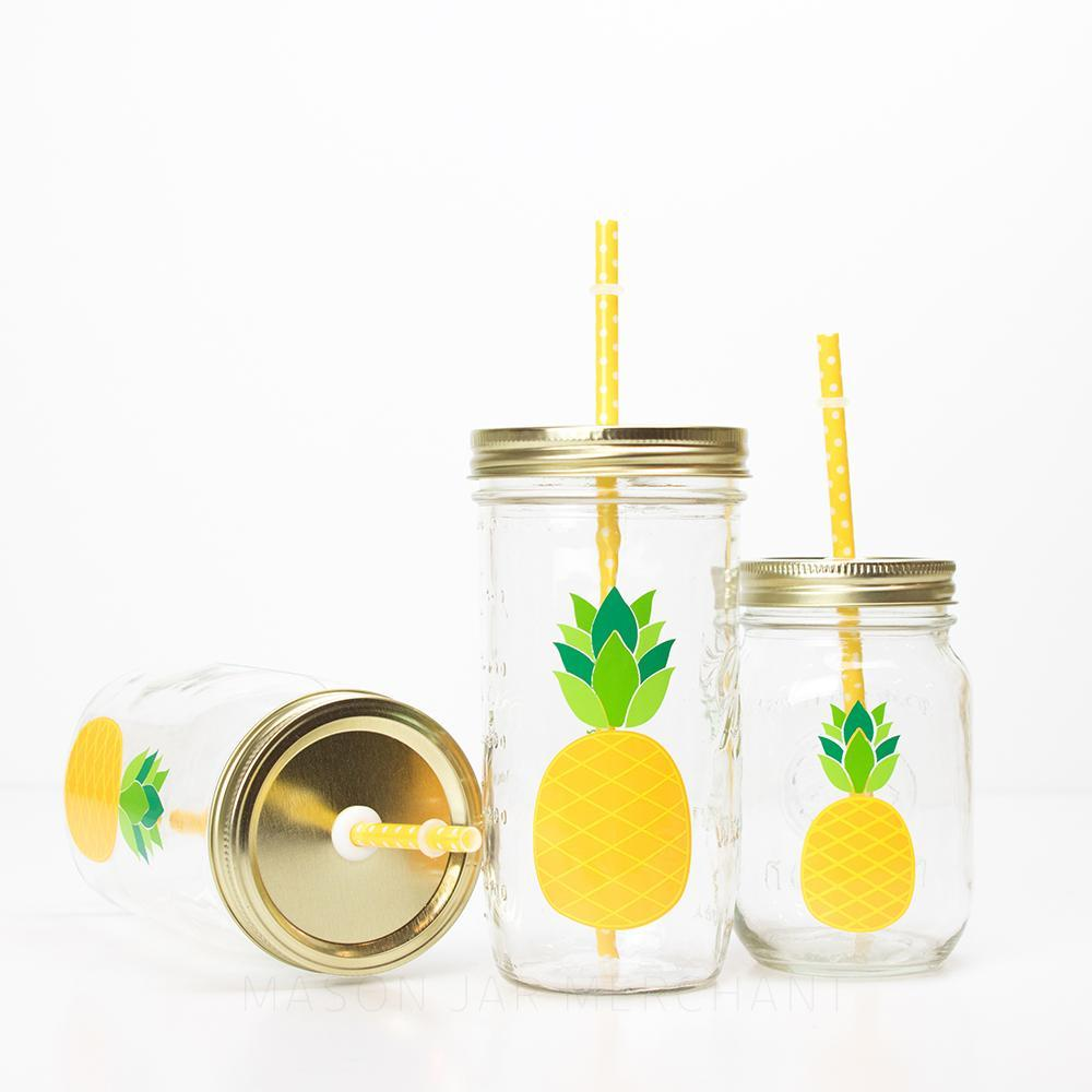 'Pineapple' Mason Jar Tumbler