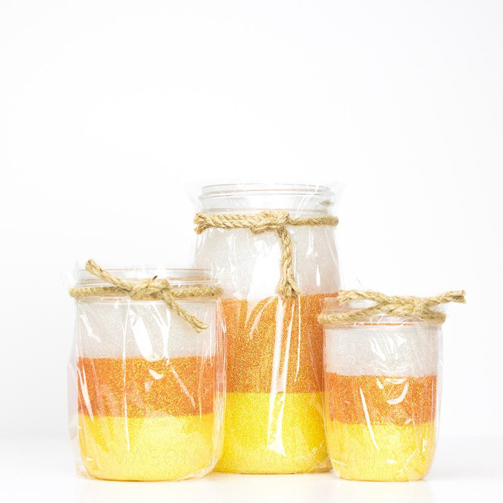 Candy Corn Glitter Jars