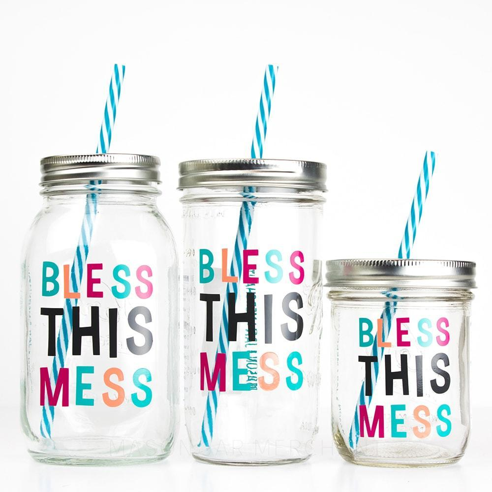 Bless This Mess reusable water bottle in three sizes