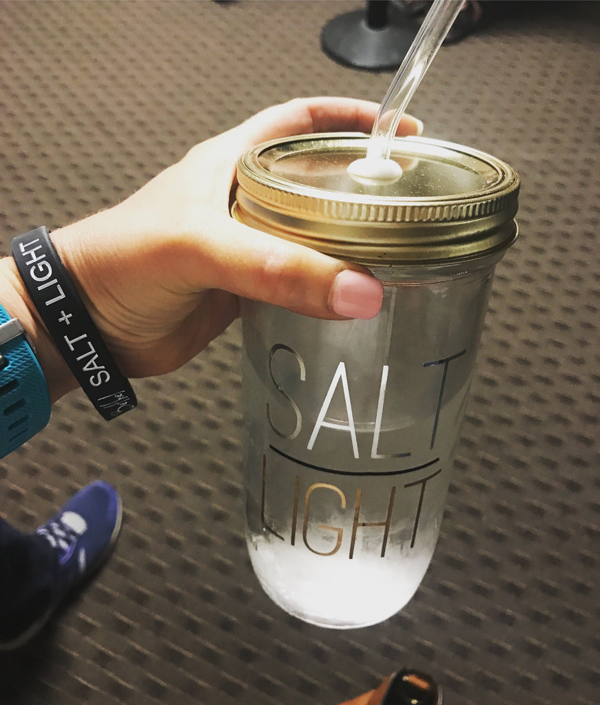 SALT / LIGHT Drinking Jar