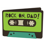 "'Rock On Dad!"" Mason Jar Tumbler for Dads"