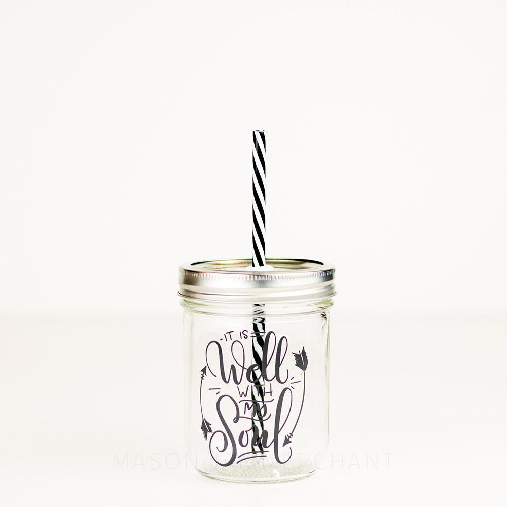 'It Is Well With My Soul' Mason Jar Tumbler