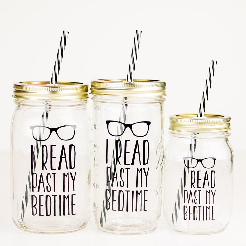'I Read Past My Bedtime' Mason Jar Tumbler
