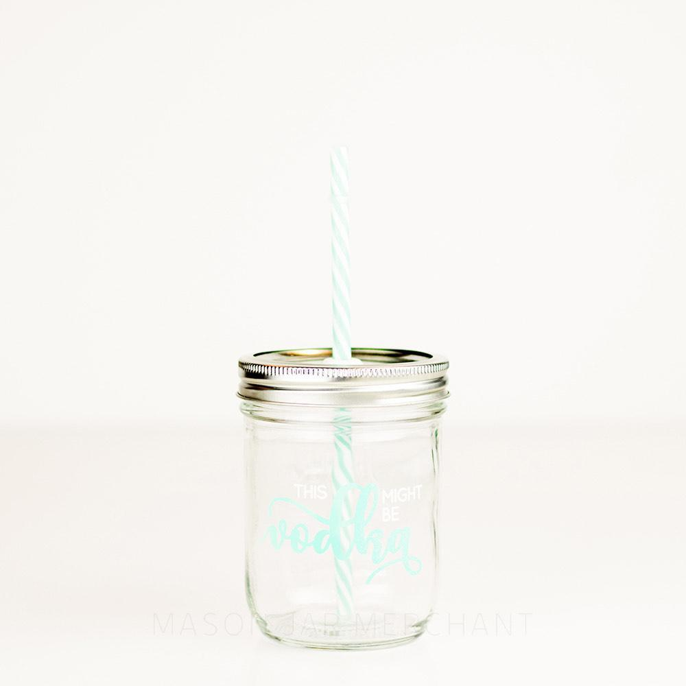 'This Might Be Vodka' Mason Jar Tumbler