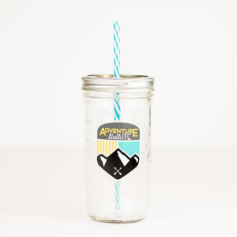 'Be Nice (Rainbow)' Mason Jar Tumbler and Sippy Cup